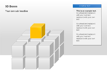 3D Boxes Collection Presentation Template, Master Slide