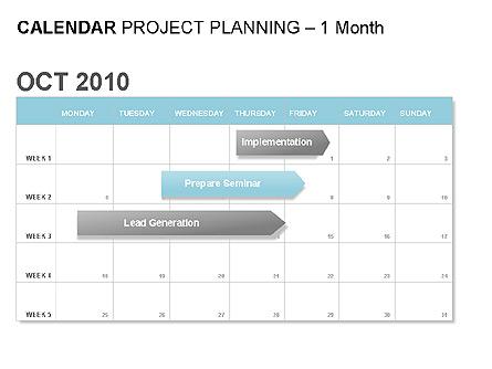 Blue Calendar Presentation Template, Master Slide