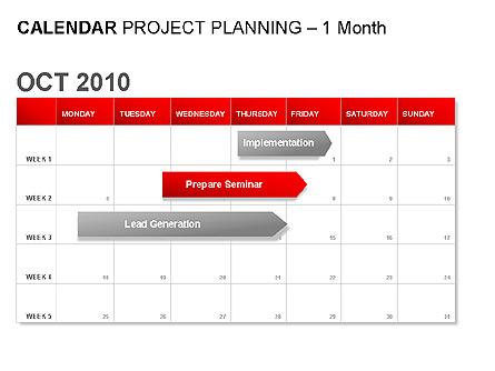Red Calendar Presentation Template, Master Slide