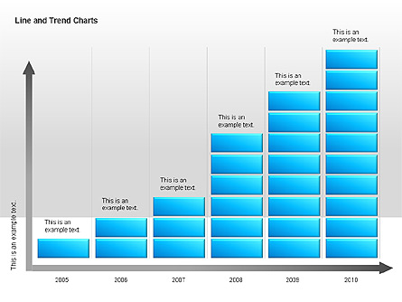 Line and Trends Charts Presentation Template, Master Slide