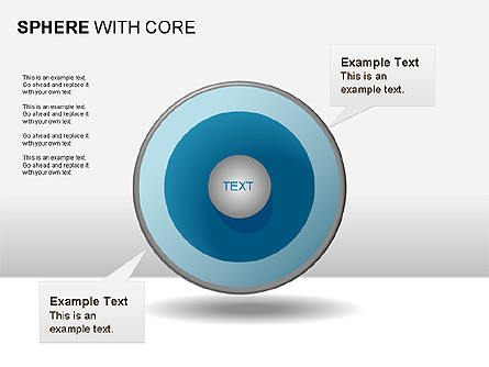 Spheres with Core Collection Presentation Template, Master Slide