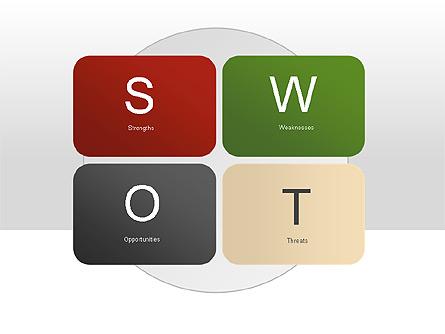SWOT Diagram Presentation Template, Master Slide