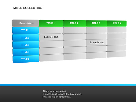 Table Collection Presentation Template, Master Slide