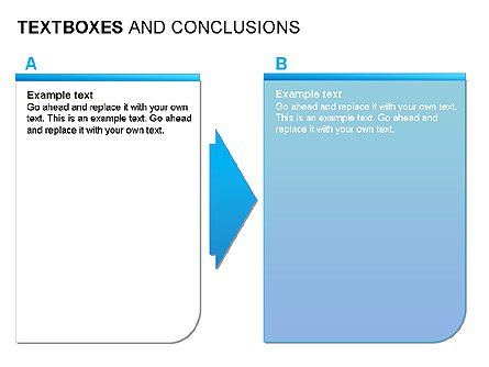 Text Boxes & Conclusions Presentation Template, Master Slide