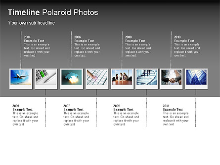 Timeline Polaroid Photos Diagram Presentation Template, Master Slide