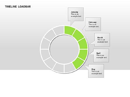 Timeline Preloader Diagrams Presentation Template, Master Slide