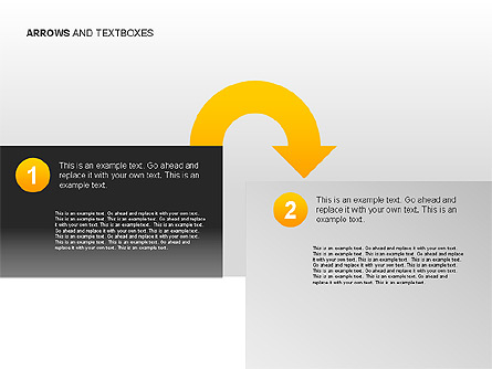 Arrows and Textboxes Toolbox Presentation Template, Master Slide