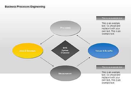 Business Process Engineering Diagram Presentation Template, Master Slide