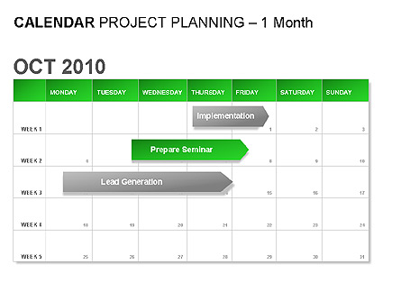 Green Calendar Presentation Template, Master Slide