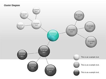 Cluster Diagram Presentation Template, Master Slide