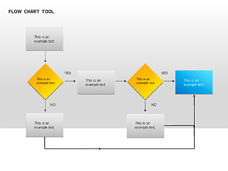 Flow Chart Presentation Template, Master Slide