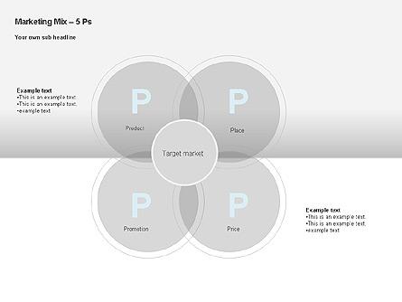 Marketing Mix Diagram Presentation Template, Master Slide