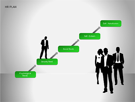 Human Resources Plan Diagrams Presentation Template, Master Slide