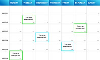 Project Calendar Blue