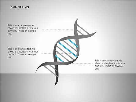 DNA Strand Diagrams Presentation Template, Master Slide