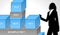 3D Blocks Organizational Charts