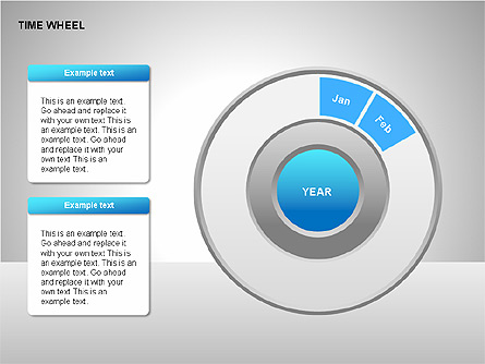 Time Wheel Diagrams Presentation Template, Master Slide