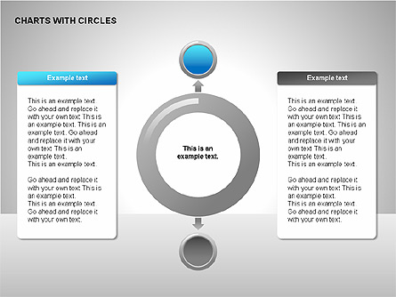 Flow Charts with Circles Presentation Template, Master Slide