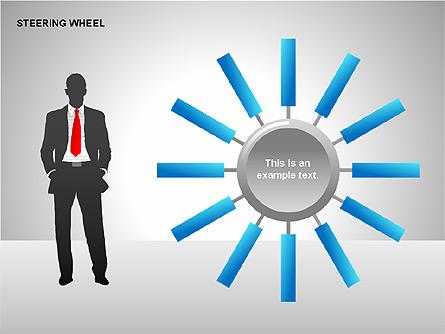 Steering Wheel Charts Presentation Template, Master Slide