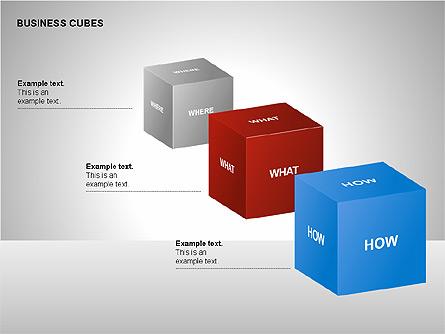 Business Cubes Diagrams Presentation Template, Master Slide
