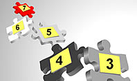 Numbered Puzzles Diagrams
