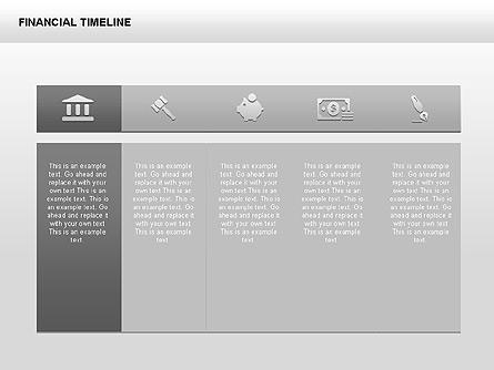 Monochrome Financial Timeline Presentation Template, Master Slide