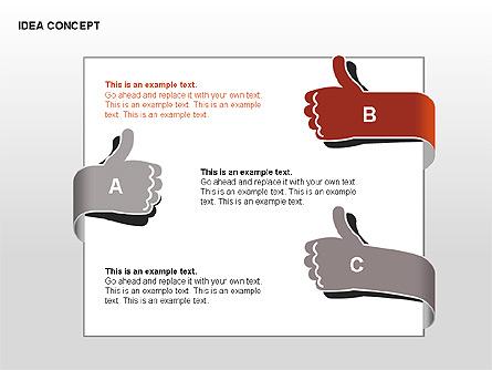 Idea Concept Chart Presentation Template, Master Slide