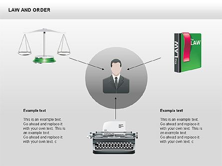 Legal Icons Collection Presentation Template, Master Slide