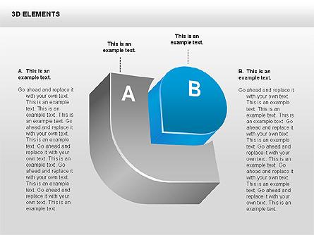 3D Shapes Collection Presentation Template, Master Slide