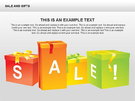 Sale and Gifts Shapes Presentation Template, Master Slide
