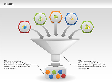 Funnel Sorting Diagrams For Presentations In Powerpoint