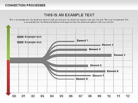 Split Process Tree Diagram Presentation Template, Master Slide