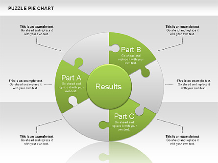 puzzle pie chart for presentations in powerpoint and keynote ppt star