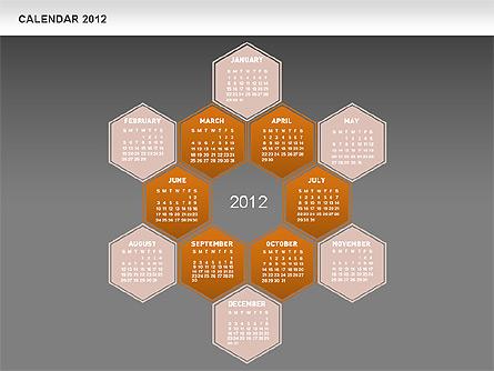 Free PowerPoint Diamond Calendar Presentation Template, Master Slide