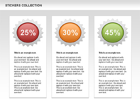 Stickers Shapes Collection Presentation Template, Master Slide