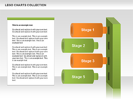 Lego Charts Collection Presentation Template, Master Slide
