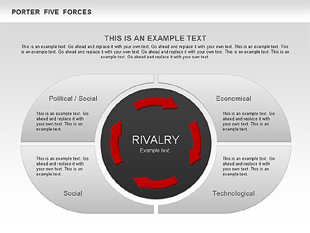 Porter 39 s five forces segments diagram for presentations in for Porter five forces template word
