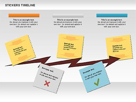 Stickers Timeline Chart Presentation Template, Master Slide