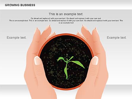 Growing Business Diagram Presentation Template, Master Slide