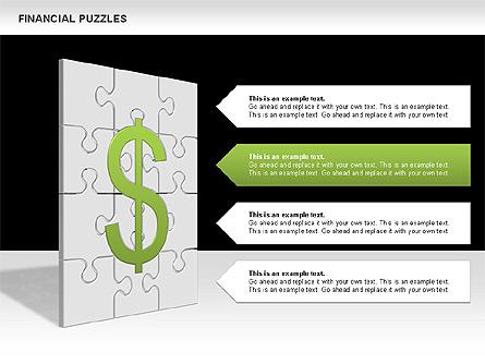 Financial Puzzle Presentation Template, Master Slide