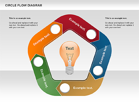 Circle flow diagram for presentations in powerpoint and keynote circle flow diagram presentation template master slide ccuart Image collections