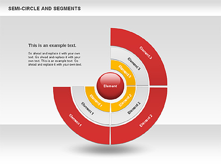 Segments and Semicircle Presentation Template, Master Slide