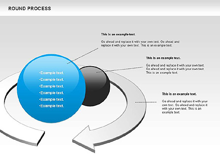 Round Process Diagram Presentation Template, Master Slide
