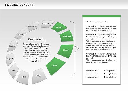 Timeline Loadbar Presentation Template, Master Slide