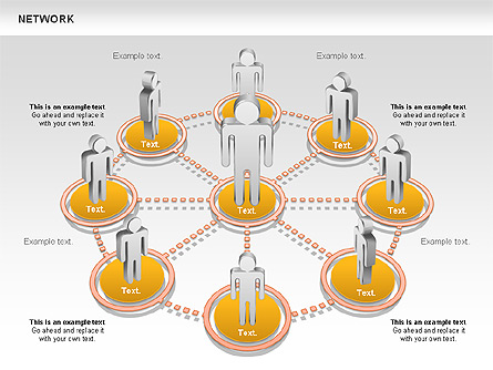 people network diagram for presentations in powerpoint and keynote, Modern powerpoint