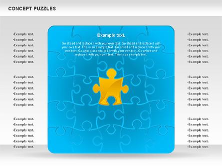 Concept Puzzles Chart Presentation Template, Master Slide