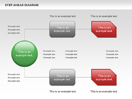 Step Ahead Chart Presentation Template, Master Slide