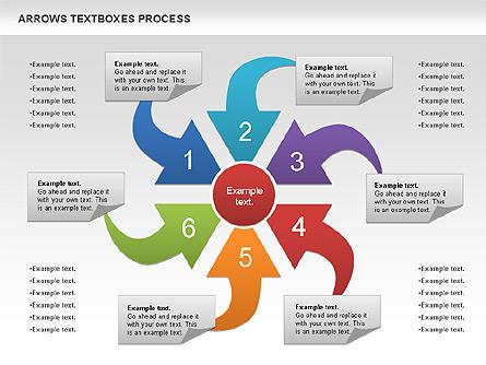 Arrows Textbo Process Diagram Presentation Template Master Slide