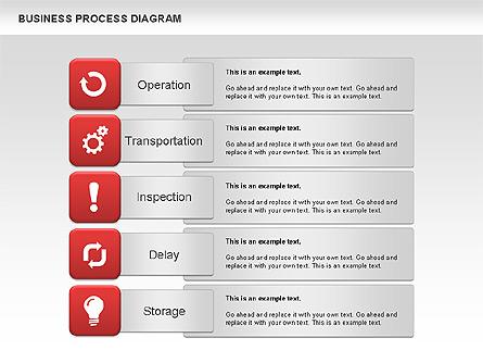 Business Process Diagram Presentation Template, Master Slide