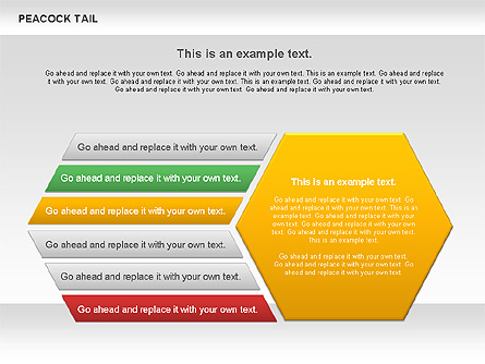 Peacock Tail Diagram Presentation Template, Master Slide